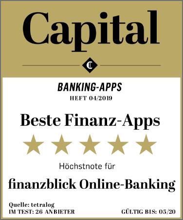 Capital Finanz-App Testseger Siegel