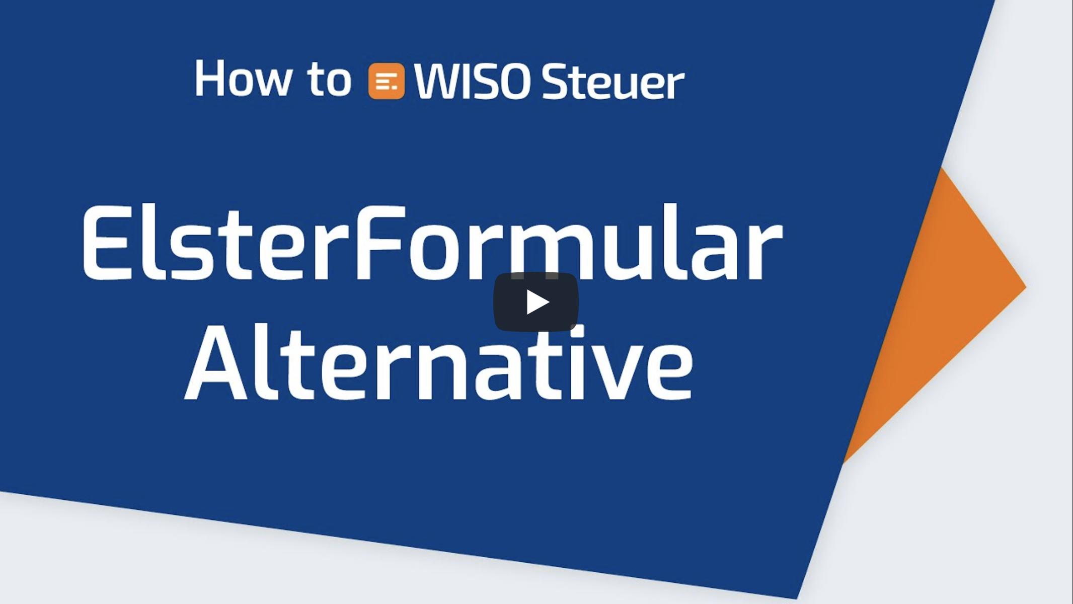 Elster Formular Alternative Video