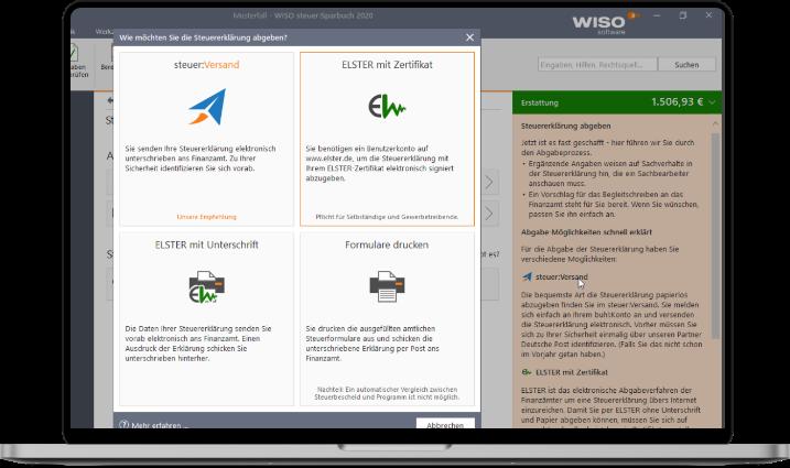 ElsterFormular in WISO importieren