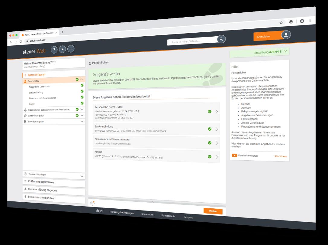 Software Beispiel Screen