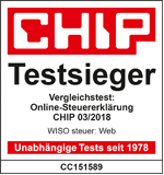 Siegel Chip Testsieger 03/2018