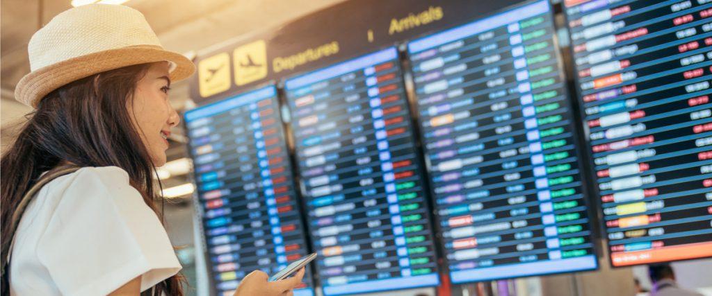 Flugtafel Departures / Arrivals