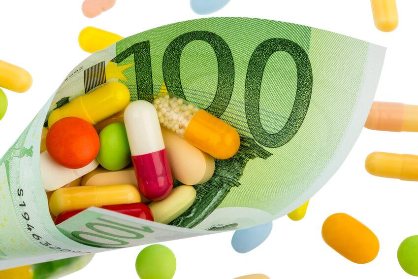 Nahrungsergänzungsmittel absetzen Titelbild Geldschein