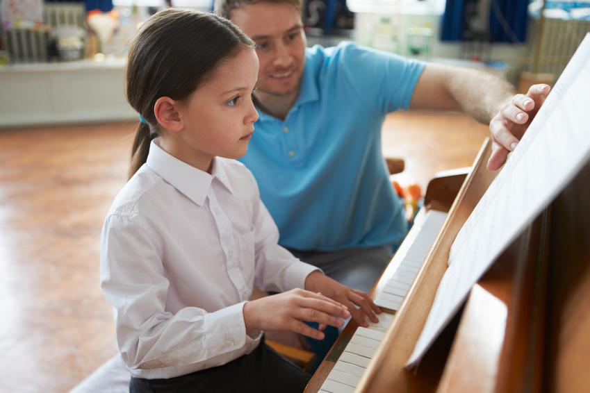 Arbeitszimmer des Klavierlehrers