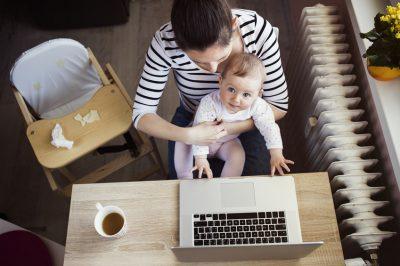 Arbeitszimmer während Elternzeit