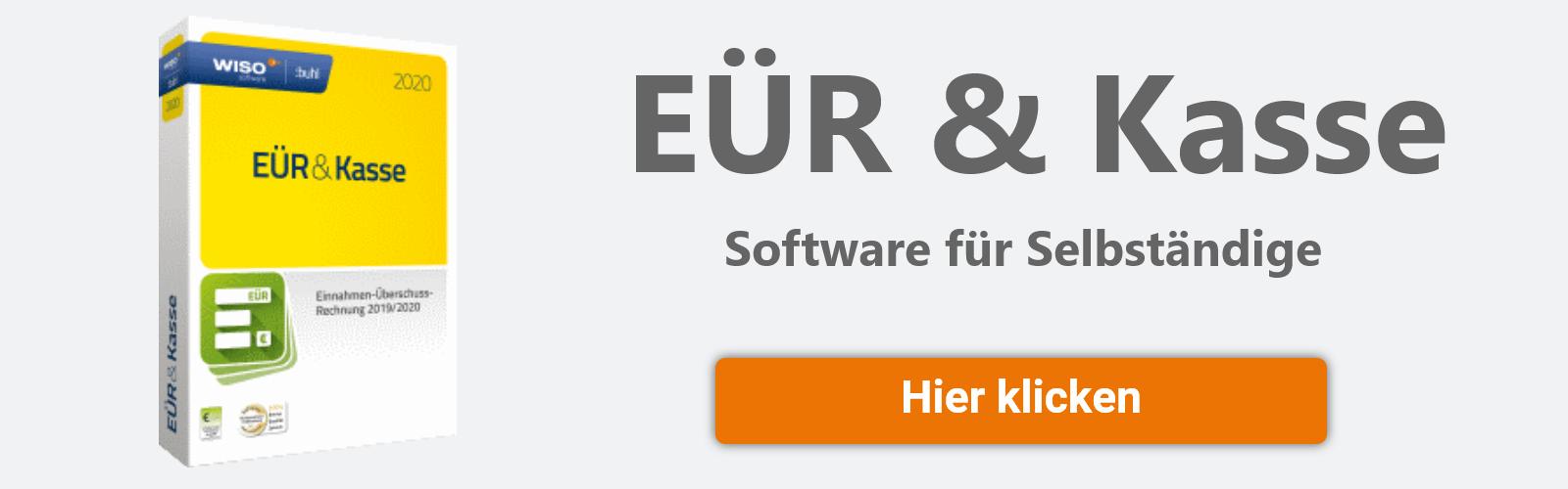EÜR & Kasse Software Selbstständige Banner