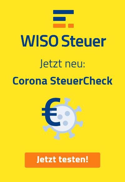 Corona SteuerCheck WISO Steuer Banner