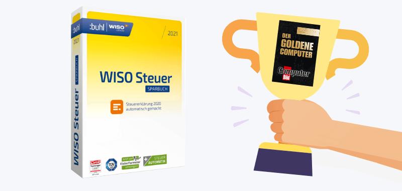WISO Steuersparbuch Goldener Computer