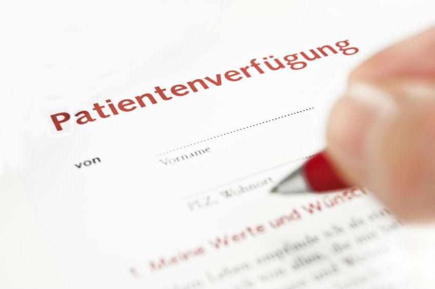 verbraucherblick 12/2015 Patientenverfügung