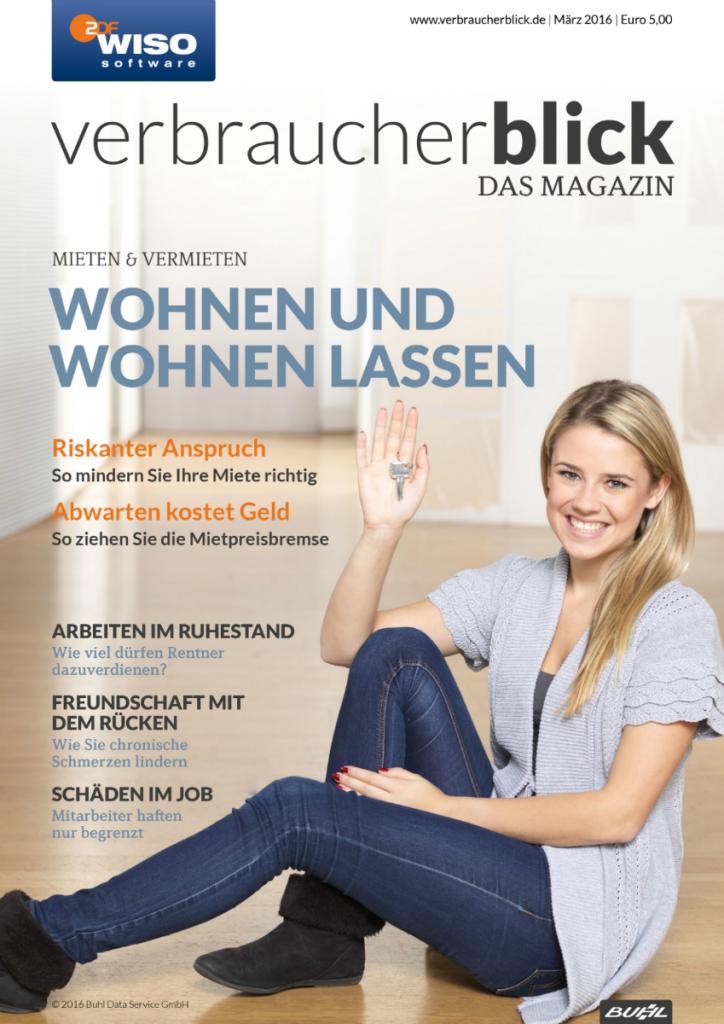 verbraucherblick Cover 03/16