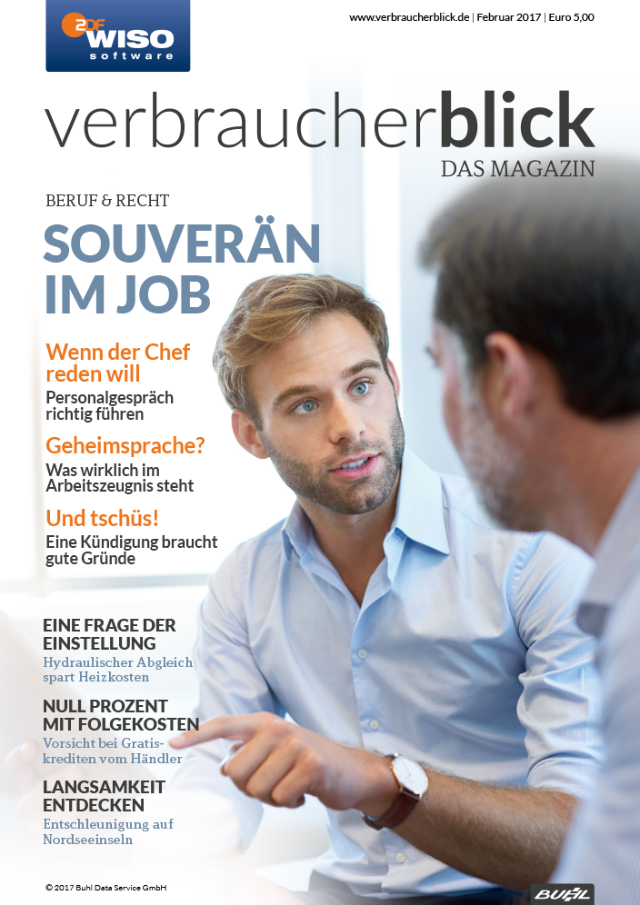 verbraucherblick 02/17 Cover