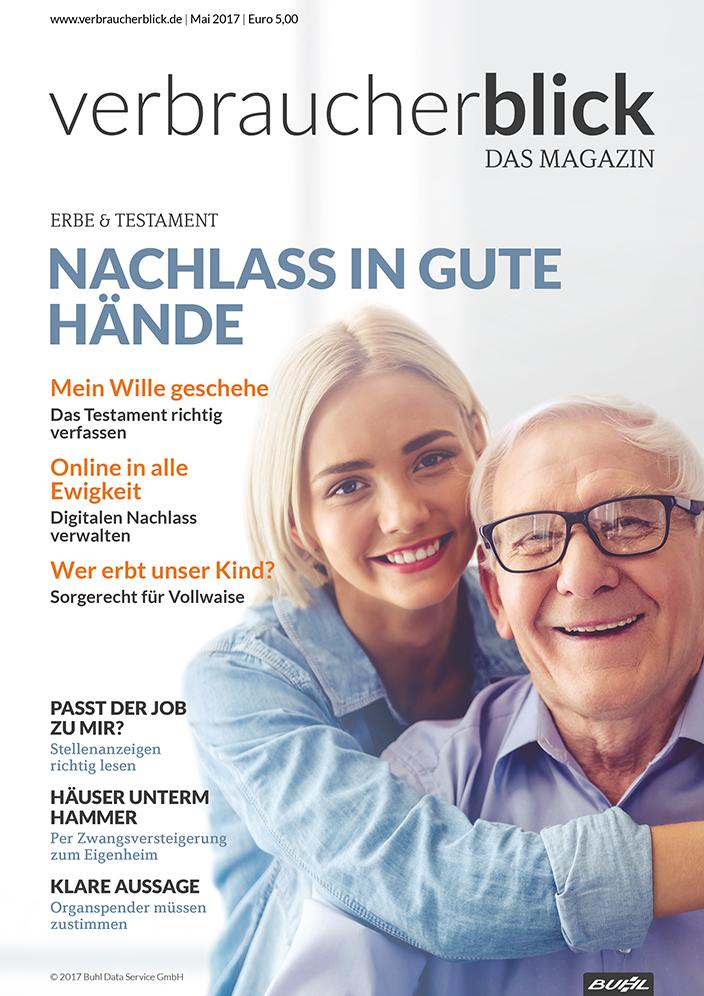 verbraucherblick Mai 2017 Cover Erbschaften