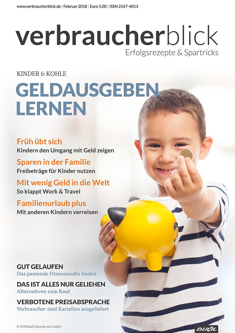 Geldausgeben lernen - verbraucherblick 02/2018