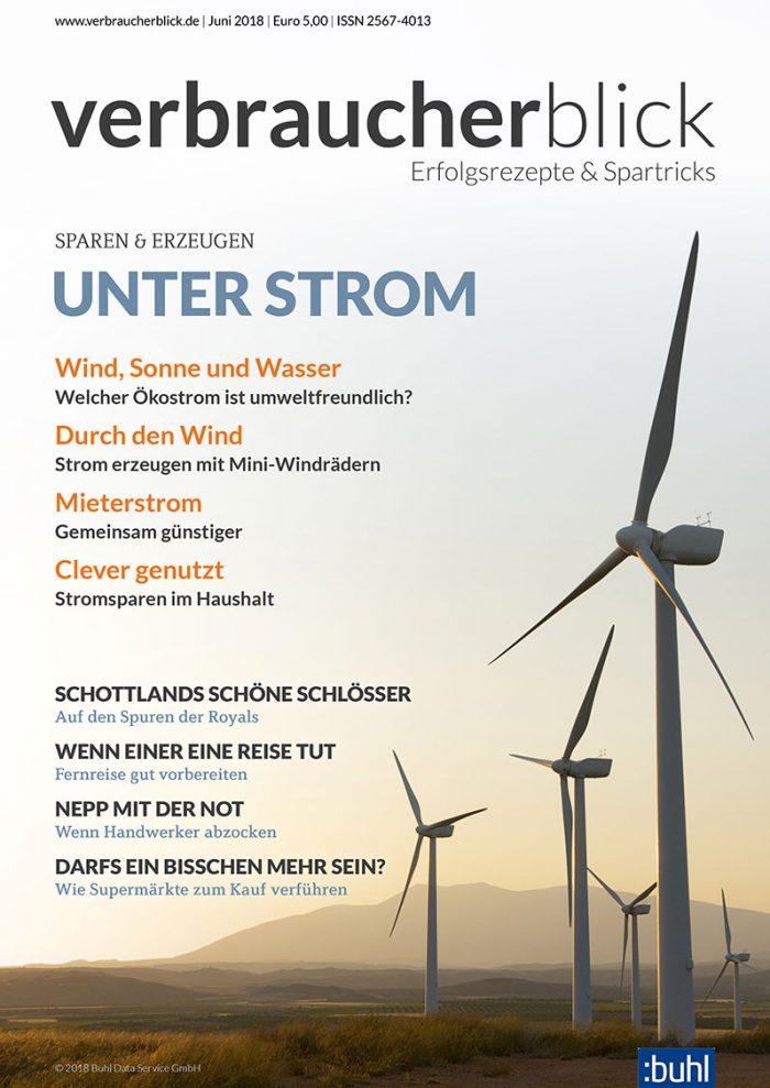 verbraucherblick 06/2018 - Unter Strom