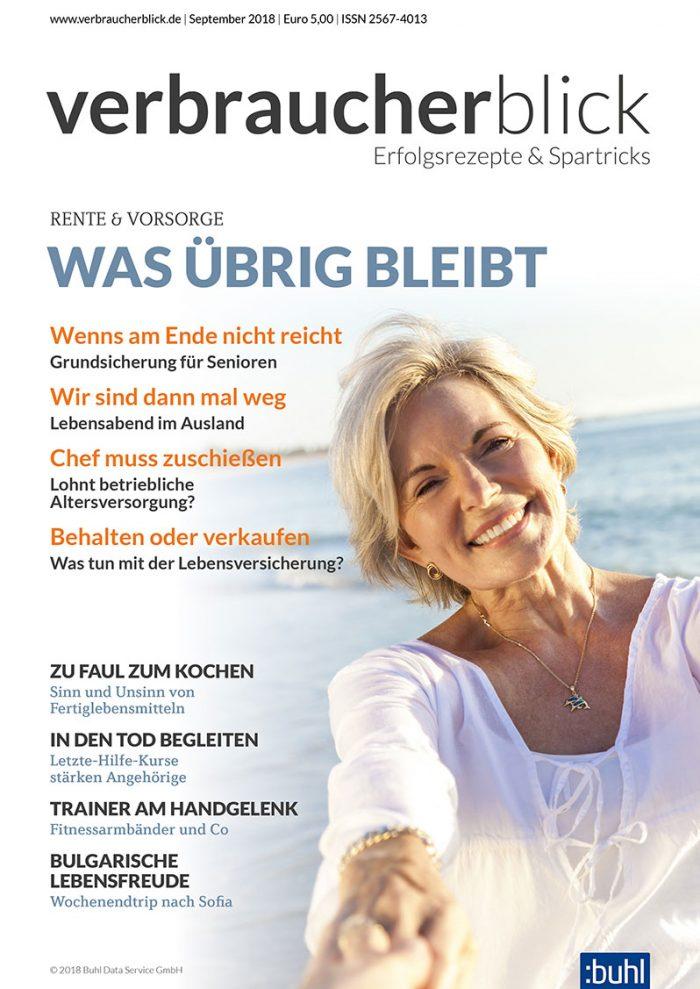 Cover verbraucherblick 09/2018 - Rente & Vorsorge