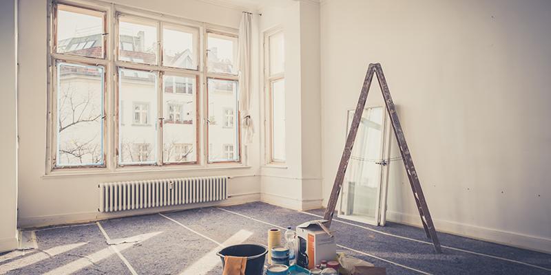 Modernisierungsarbeiten in einer Wohnung
