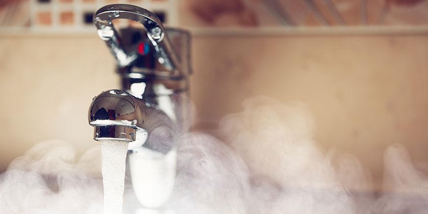 Heißes Wasser in Sekunden