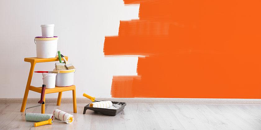 Farbgestaltung in der Mietwohnung