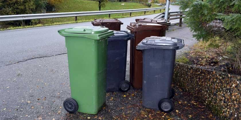 Anlieger verpflichtet, Mülltonnen zur Sammelstelle zu bringen.
