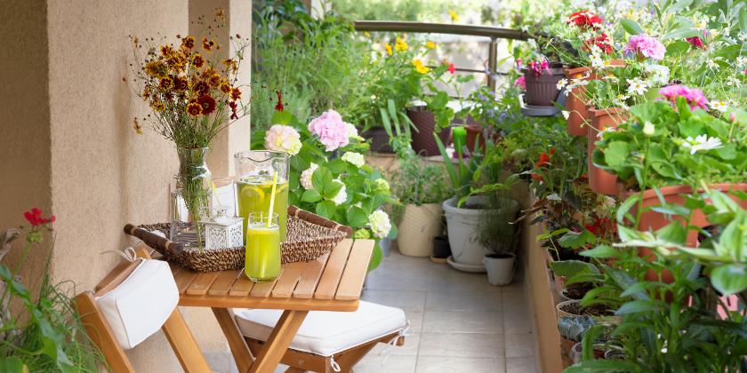 Balkon bei kleiner Wohnung