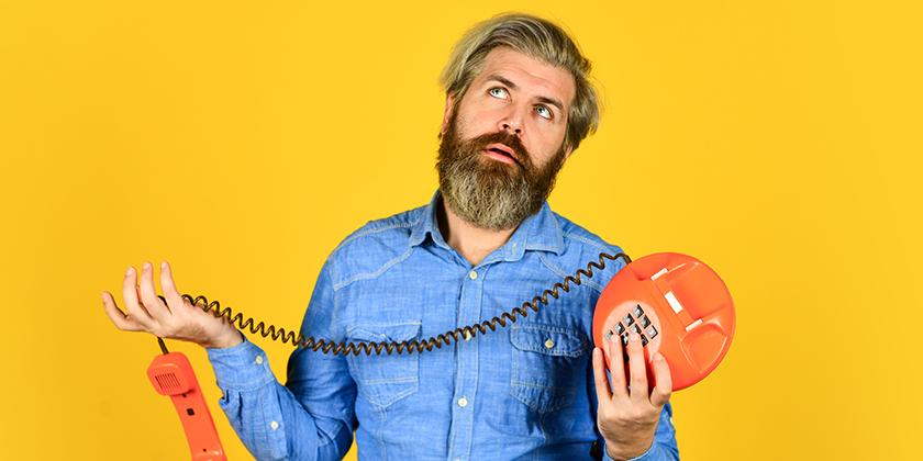 Defekter Telefon- und Kabelanschluss
