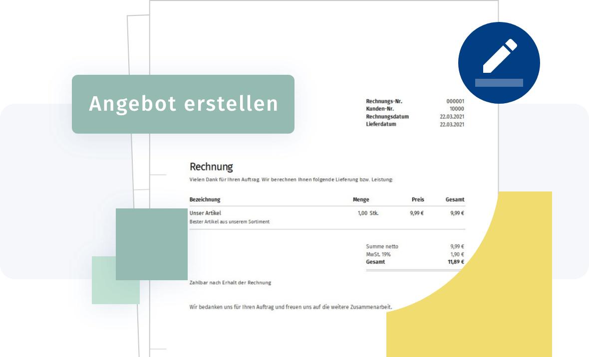 Rechnungsprogramm - vom Angebot zur Rechnung